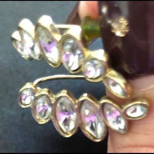Jewelry - Crystal Leaf Earrings